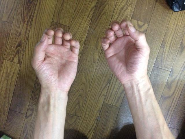 これが正しい手の平の型!