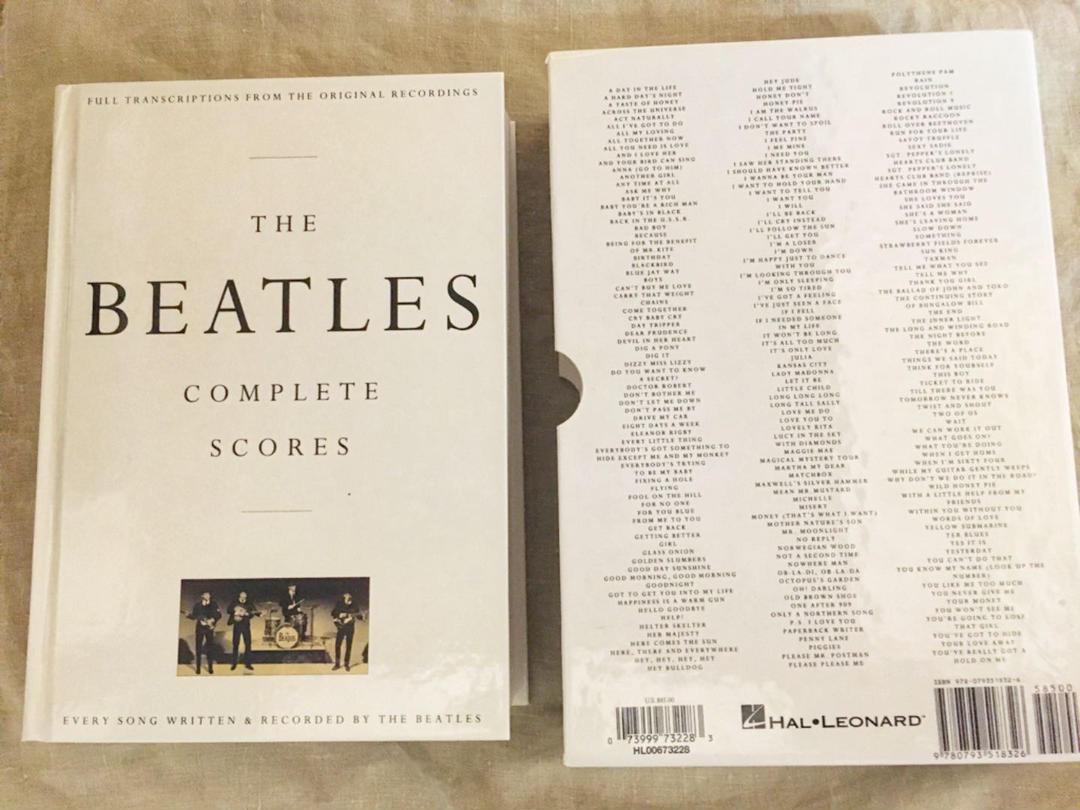 「The Beatles Complete Scores」ビートルズのコピー譜ならこれ!
